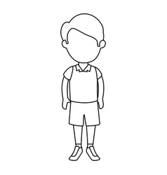 little boy student with uniform character vector image vector image