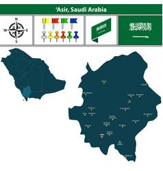 Map of asir saudi arabia vector