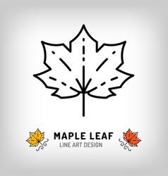 maple leaf icon autumn leaves canada symbol vector image