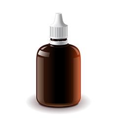 Medical dark plastic bottle isolated vector