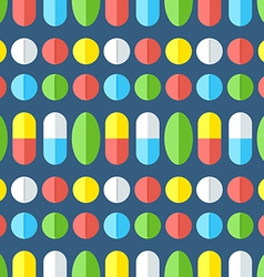 Medicines seamless pattern vector image vector image