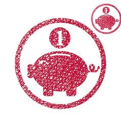 Piggy bank coins cash money savings theme simple vector image