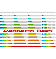 progress bars set vector image vector image