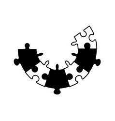Puzzle jigsaw cooperation concept vector