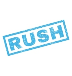 Rush rubber stamp vector
