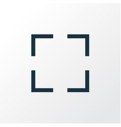 Screenshot outline symbol premium quality vector