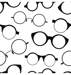 Seamless pattern with retro glasses vector