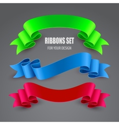 Set of ribbons vector image