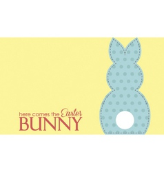 Single easter blue rabbit wording vector image vector image