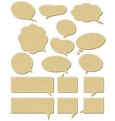 Sixteen wooden labels bubble vector