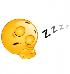 sleeping emoticon vector image vector image