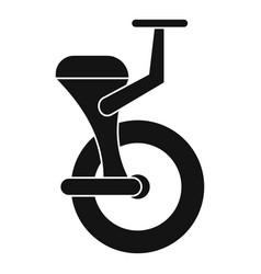 Solo wheel icon simple style vector