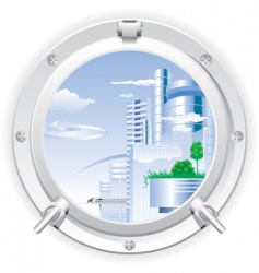 steel porthole vector image vector image