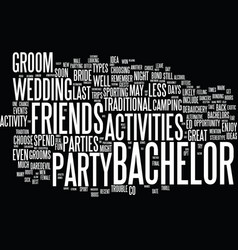 The best bachelor party ideas text background vector