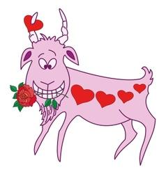 Valentine goat vector image