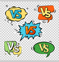 versus logo sign set vector image