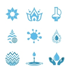 Water drop shapes collection icon vector