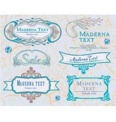 Modern vintage items set 2 vector image