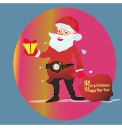 Full length portrait of a Santa Claus posing near vector image