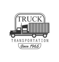 Heavy Trucks Company Club Logo Black And White vector image