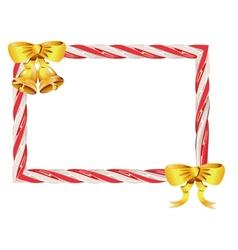 Candy cane frame3 vector