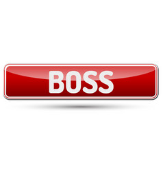 Boss - abstract beautiful button with text vector