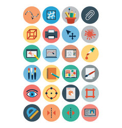 Flat design icons 3 vector
