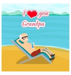 Happy grandparents day poster concept I vector image
