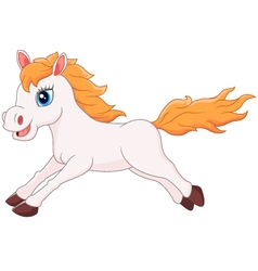 Cartoon horse running vector