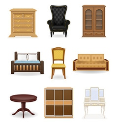 Set icons furniture 01 vector