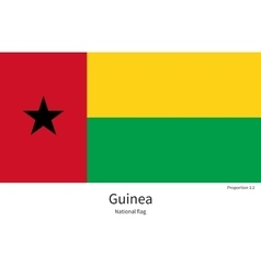 National flag of guinea with correct proportions vector