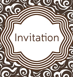 Invitation wedding or greeting card template vector