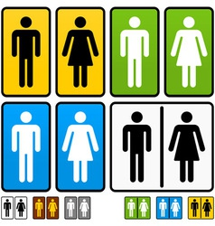 Male and female restrooms sign vector