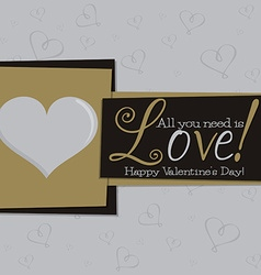 Funky valentines day card in format vector