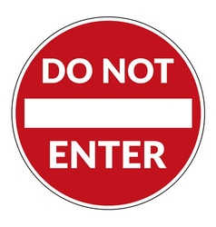 Do not enter sign vector