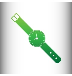 Watch sign green gradient icon vector