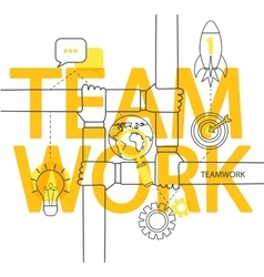 Teamwork concept infographic vector