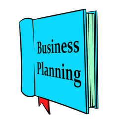 Business planning icon cartoon vector