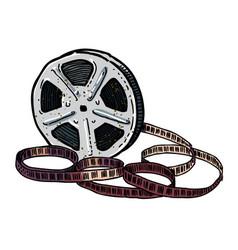 cartoon image of film reel vector image
