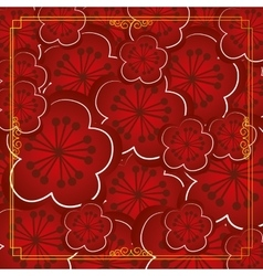 Colored chinese background vector image