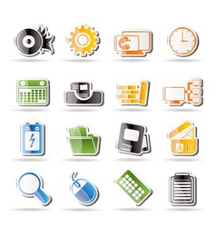 computer and mobile phone vector image vector image
