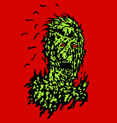 Decayed head of zombie vector