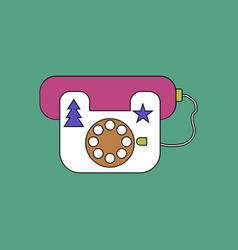 flat icon design collection landline phone vector image
