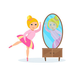 Girl in dress presents herself ballet dancer vector