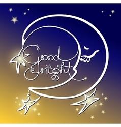Good night of handwritten vector