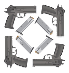 Handgun collection vector image vector image