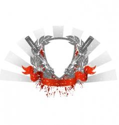 heraldry pistols vector image vector image