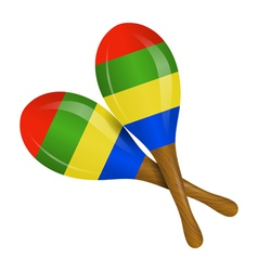 Image of maracas on a white background vector