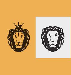 Lion logo or emblem animal wildlife icon vector
