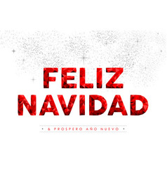 merry christmas new year spanish language quote vector image